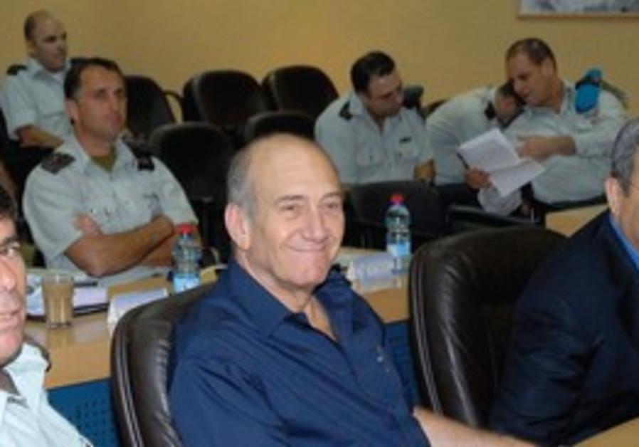 From left: Gabi Ashkenazi, Ehud Olmert and Ehud Barak.