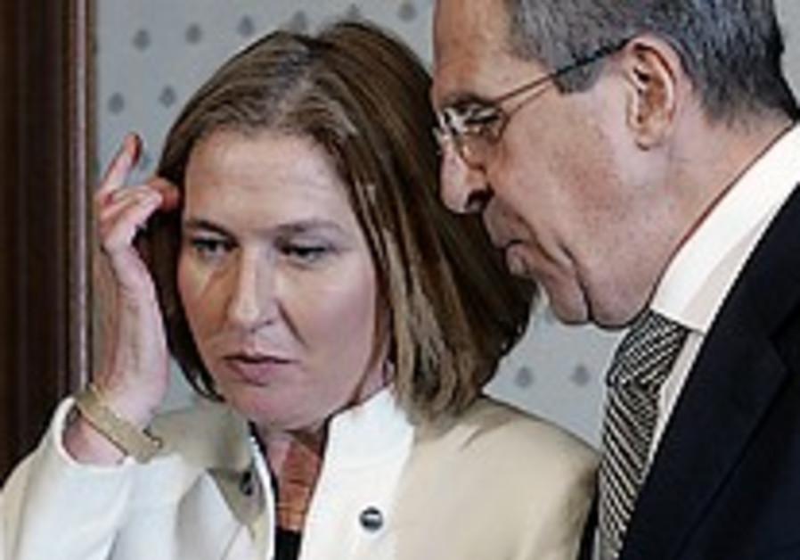 Livni fails to change Lavrov's stance on Iran