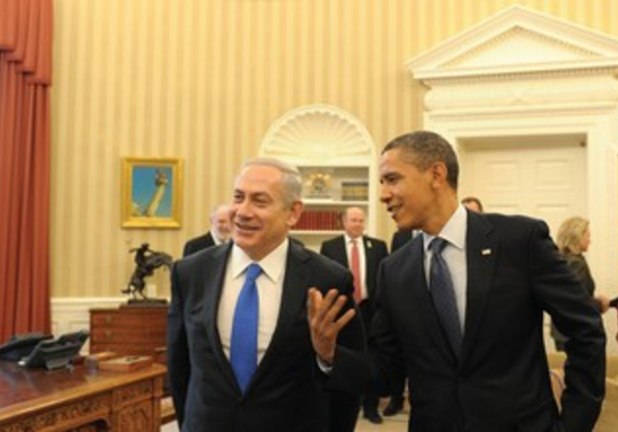 Netanyahu and Obama in Washington