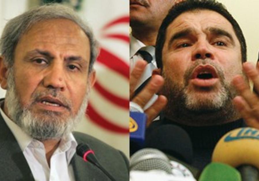 Hamas's Zahar (L), Bardawil (R)