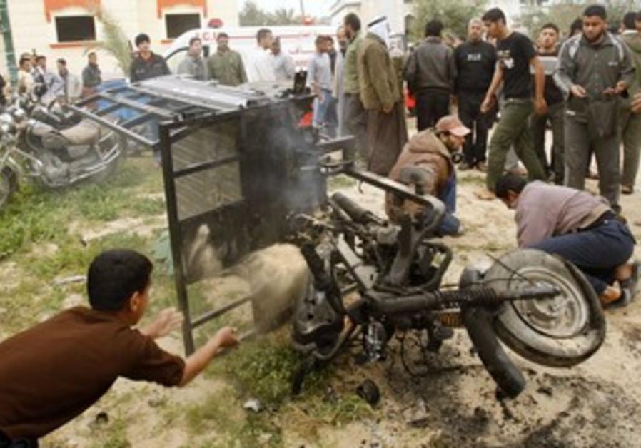 Air strikes on Gaza