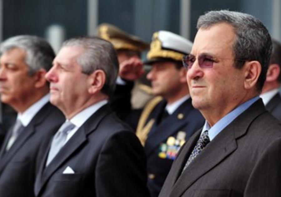 Def. Minister Barak, Italian counterpart