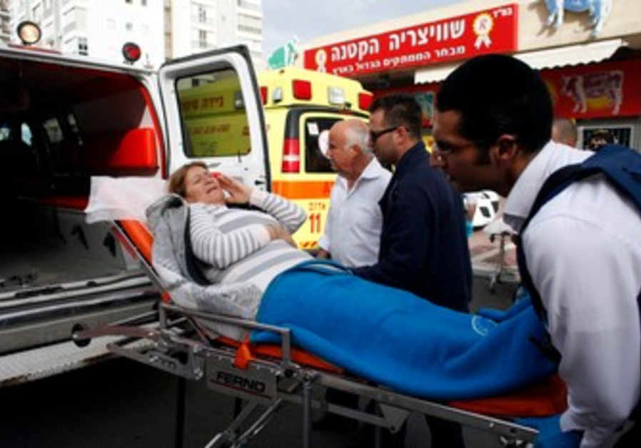 Israeli woman being evacuated to hospital