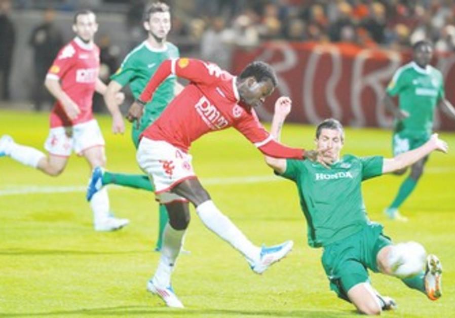 Hapoel Tel Aviv against Maccabi Haifa