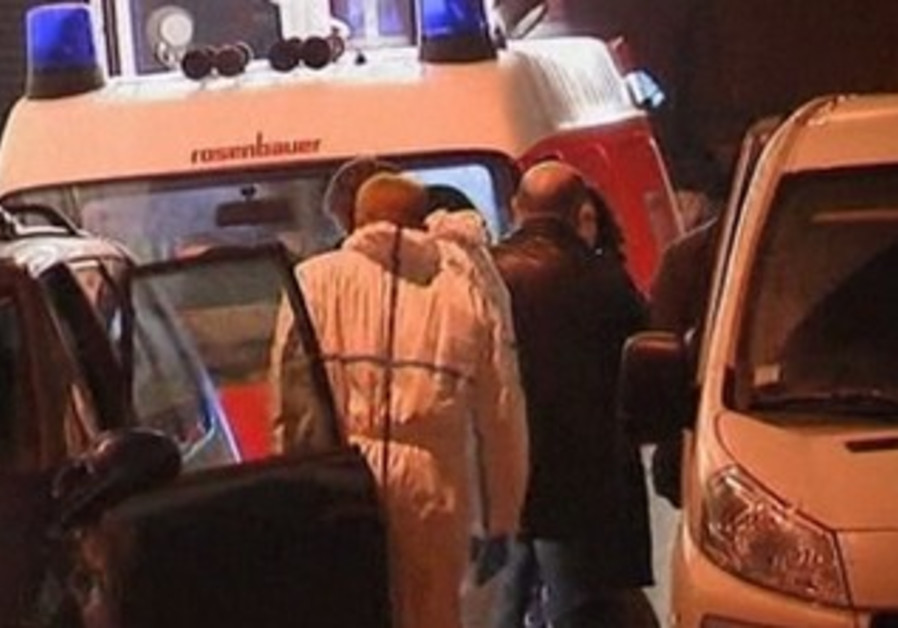 Police at scene of petrol bomb attack
