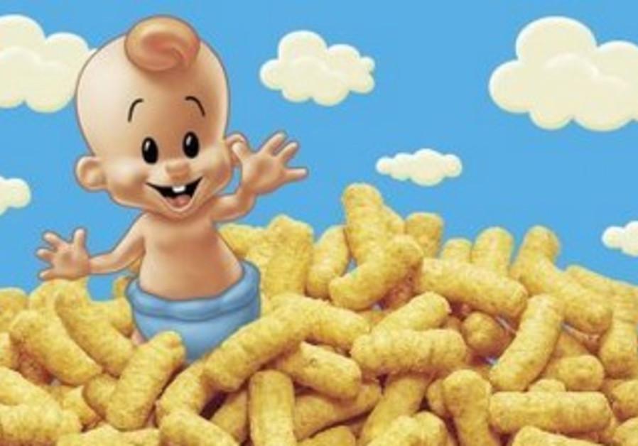 Baby from Osem's peanut snack Bamba
