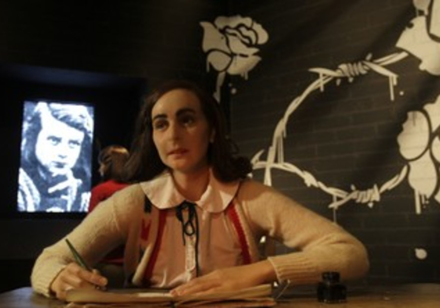 Anne Frank wax figure
