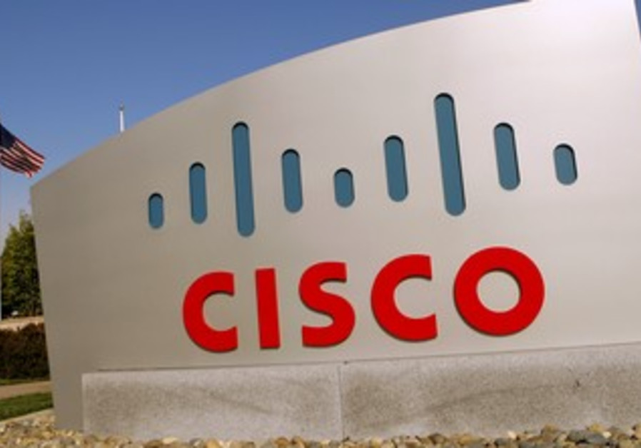 Cisco sign at company's campus , San Jose