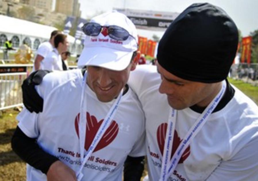 Richard Bernstein at the Jerusalem marathon
