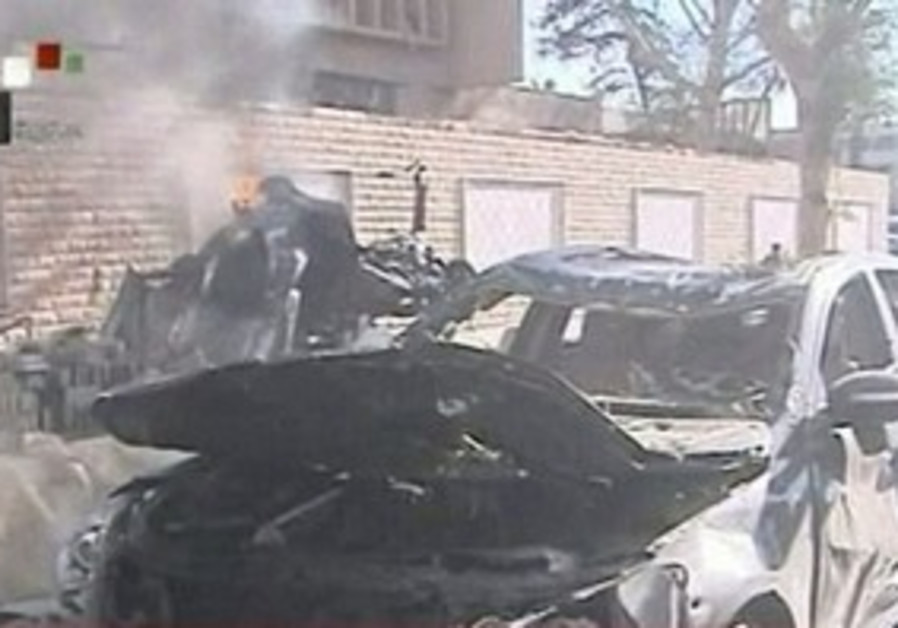Syrian TV shows site of alleged terrorist bombing