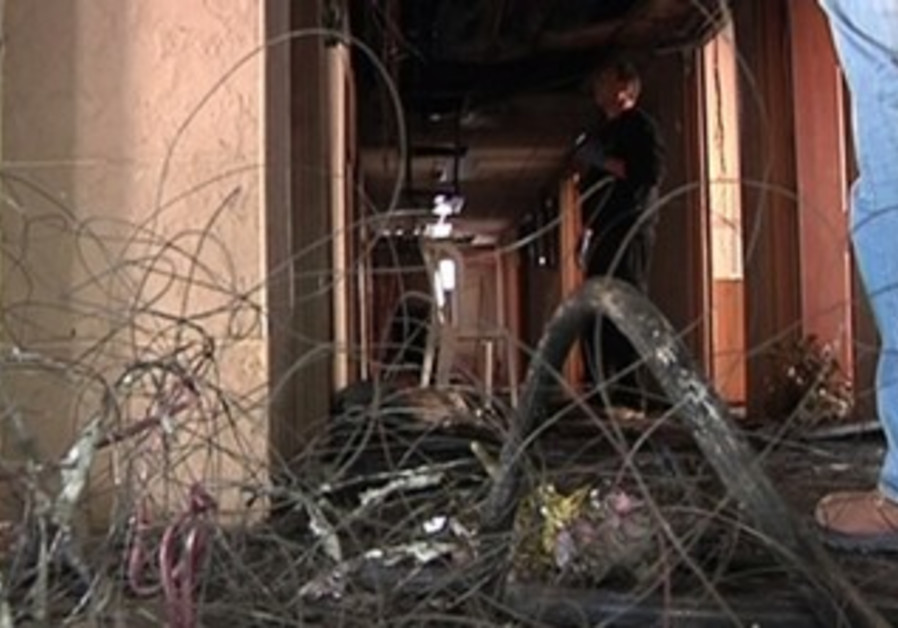 Fire at old age home in Bnei Brak