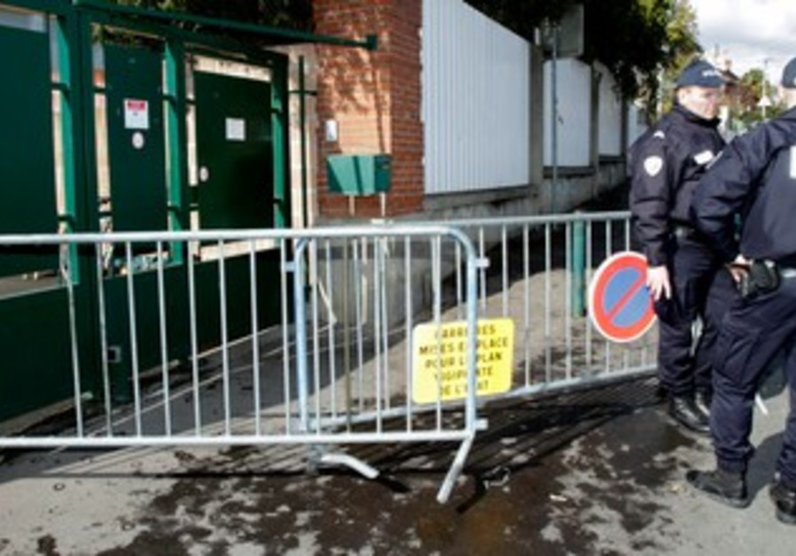 French Police outside Jewish school after shooting