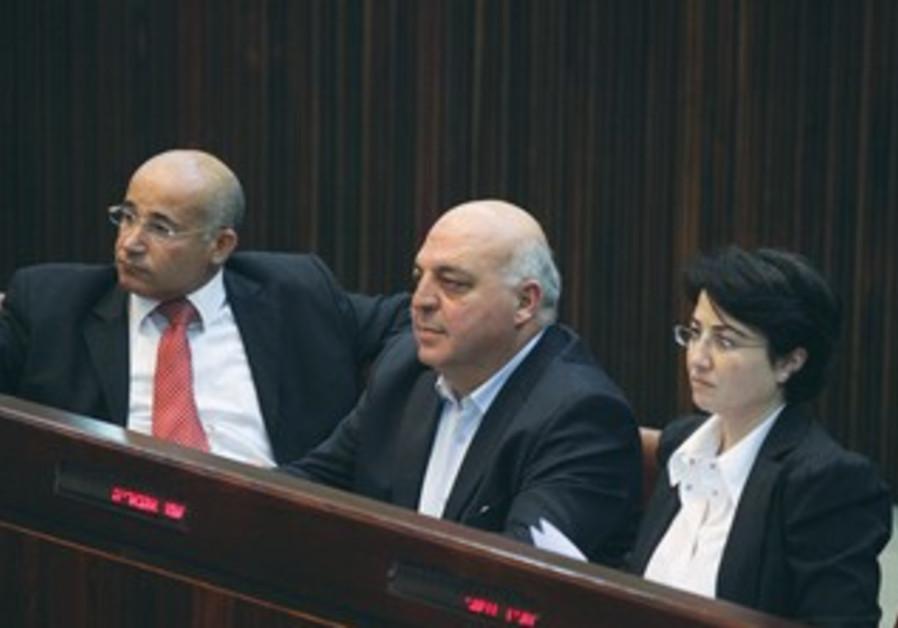 ARAB MKS Haneen Zoabi,  Afo Agbaria and Taleb a-Sanaa