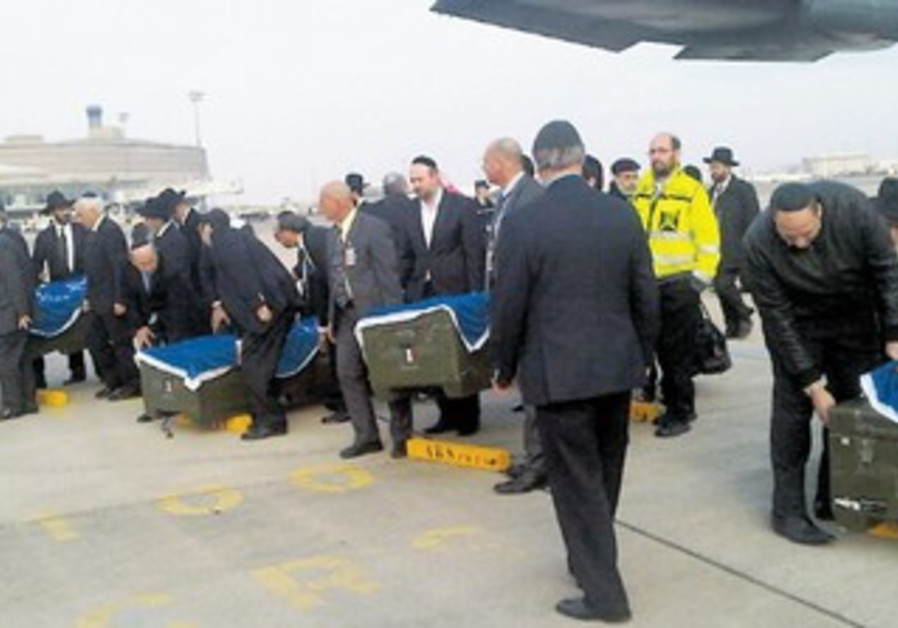 Caskets of the four victims of school shooting