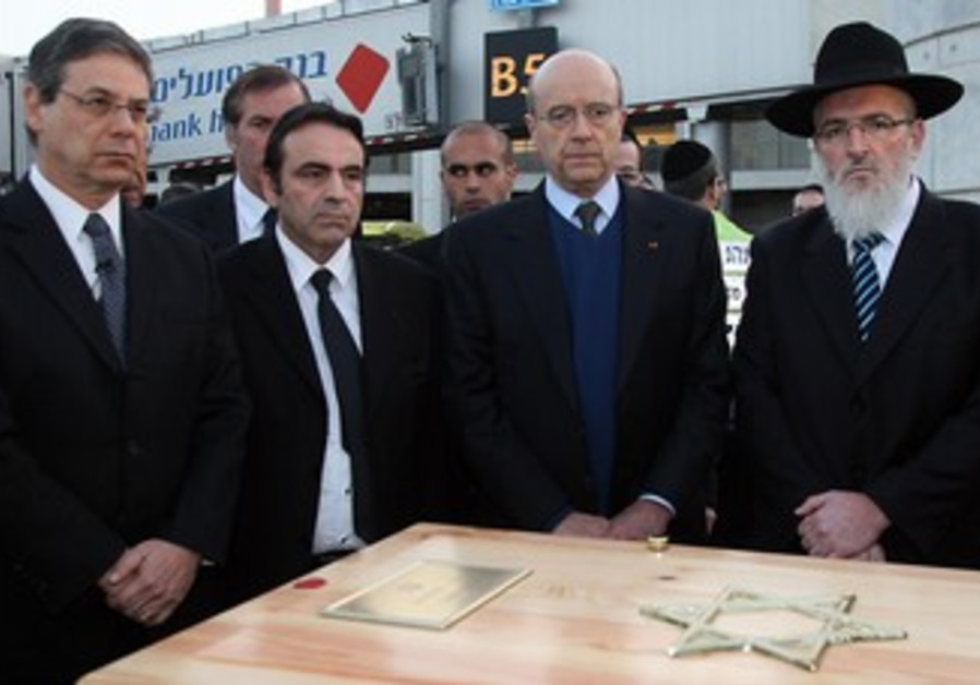 Bodies of French shooting victims land in Israel