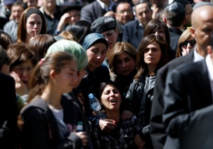 Mother of Toulouse victim at funeral in J'lem