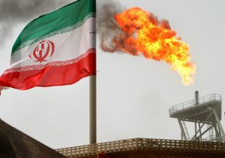 An oil platform at Iran's Soroush oil fields