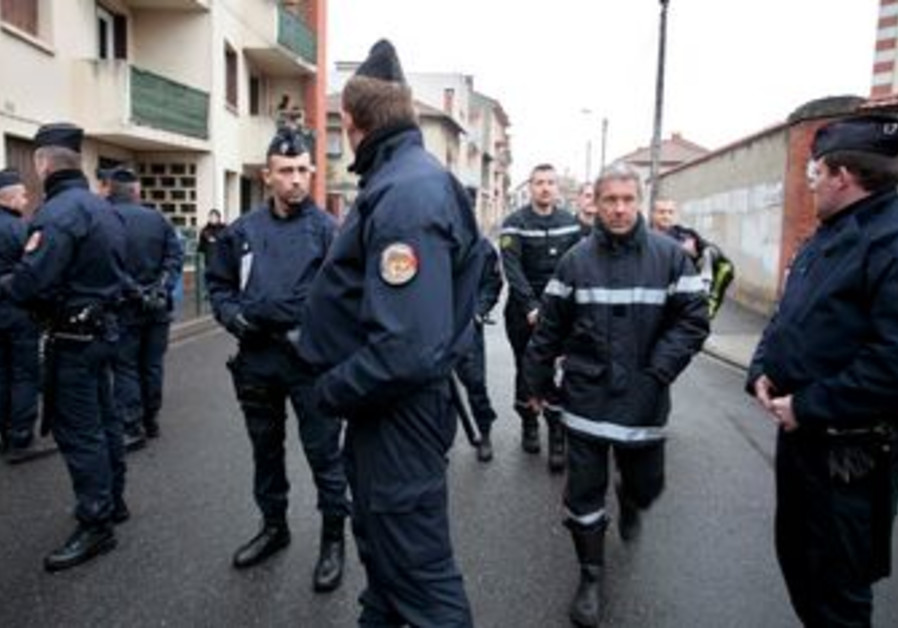 French police block street in Toulouse