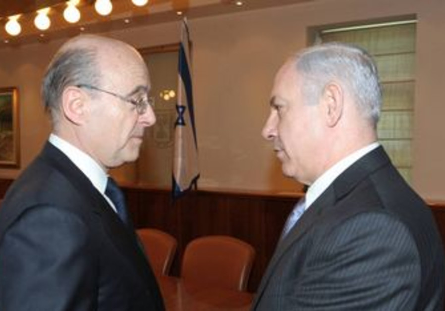 Binyamin Netanyahu with French FM Alain Juppe