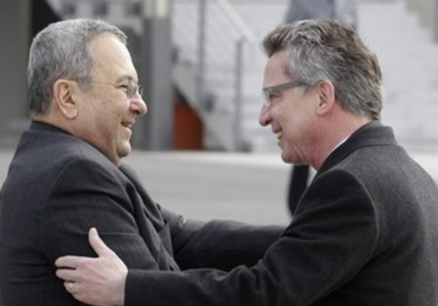 German Foreign Minister welcomes Ehud Barak