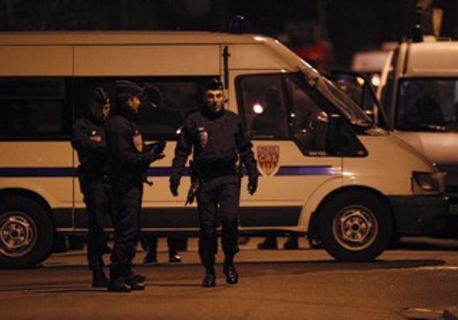 French police in Toulouse (night)