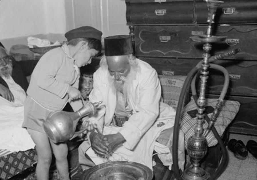 Passover seder hand  washing