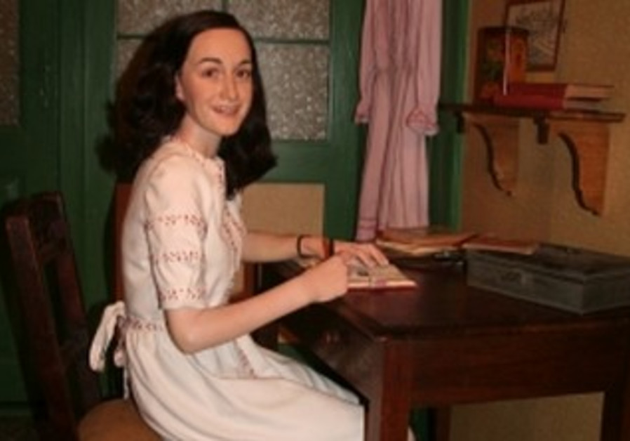 Wax likeness of Anne Frank in Berlin