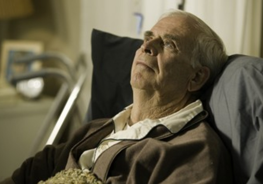 Elderly man in an retirement home [illustrative]