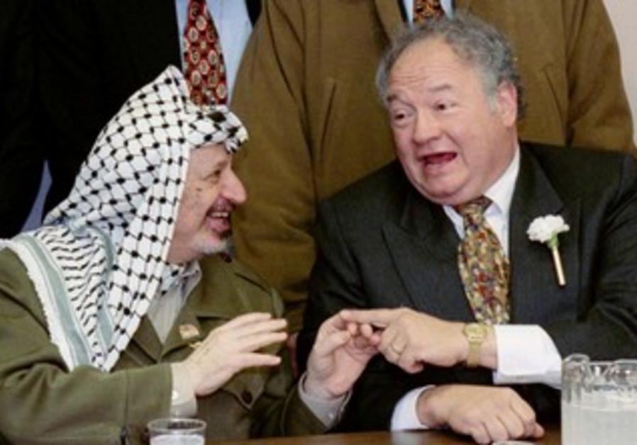 Yasser Arafat with Congressman Gary Ackerman