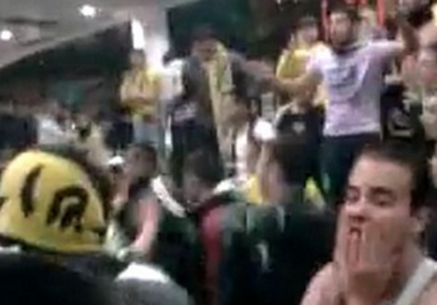 Soccer fans riot at Malha Mall