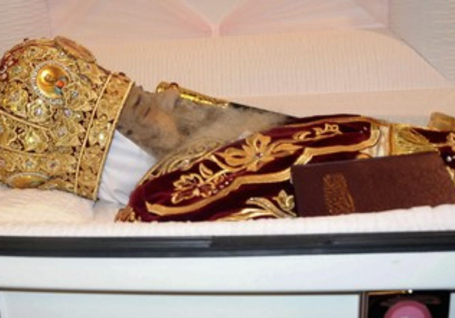 Body of Coptic Pope Shenouda III