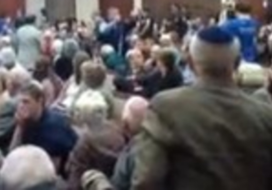 Pro-Palestinians disrupt MK panel near Boston