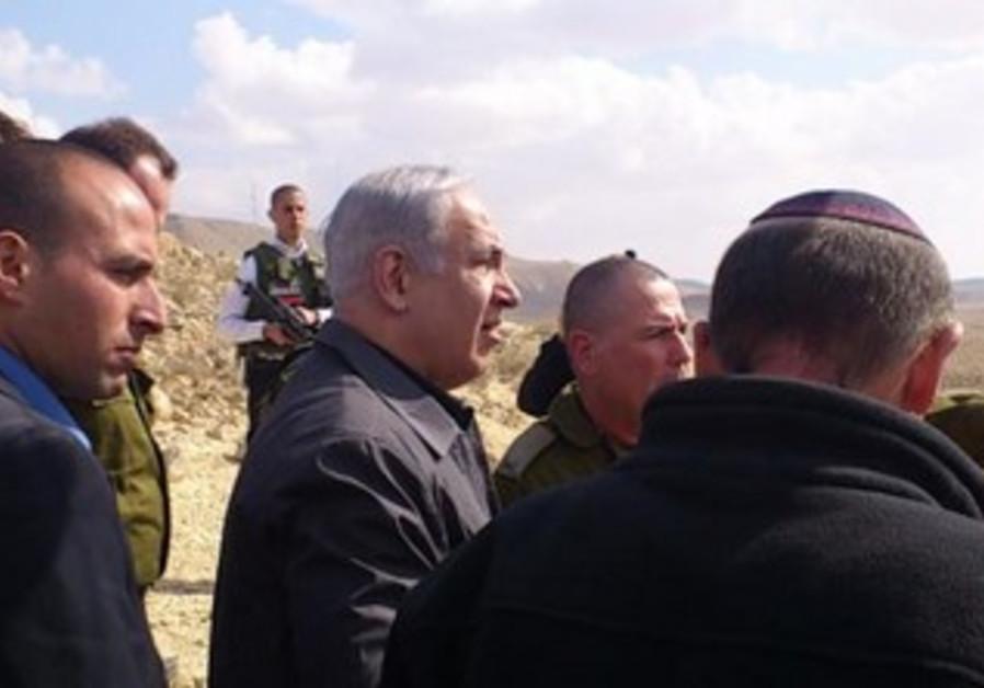 Prime Minister Binyamin Netanyahu on Egypt border