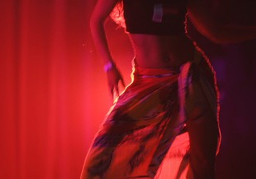 a belly dancer performs in Rabat, Morocco