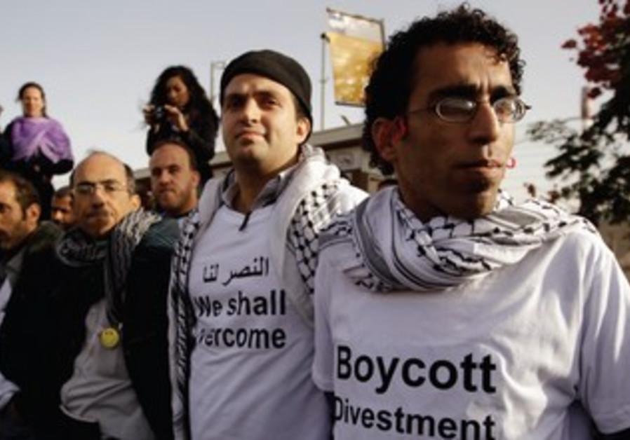 Palestinians call for a boycott