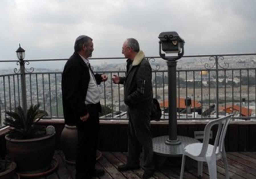 Arye Eldad, Michael Ben-Ari at Mt. of Olives homes
