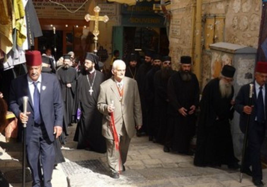 Good Friday procession in Jerusalem