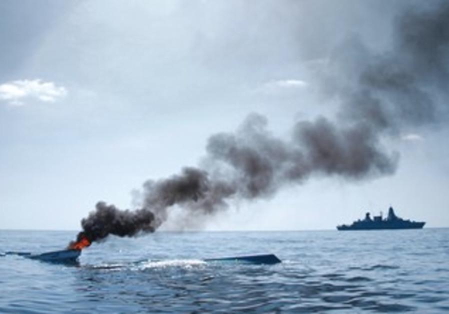 Warships in Gulf of Aden