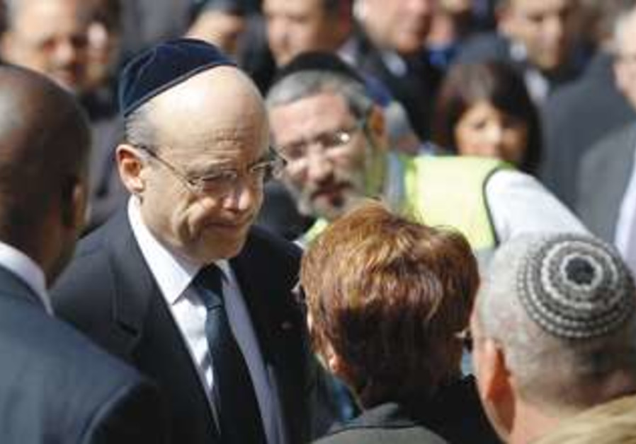 Alain Juppe at Toulouse victims' funerals
