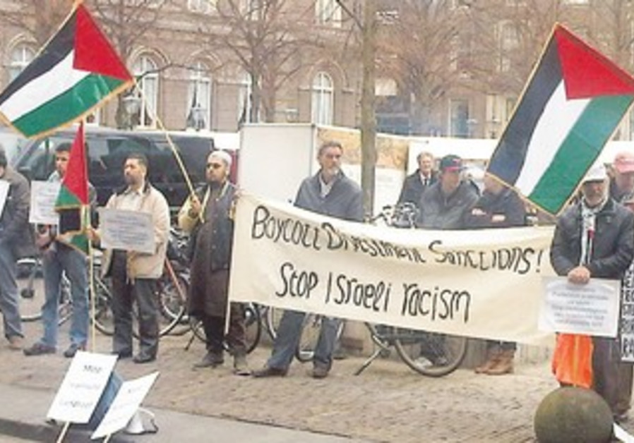 ANTI-ISRAEL PROTEST at Dutch parliament