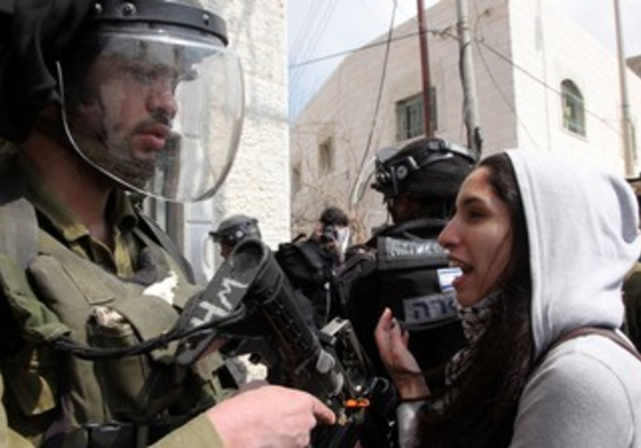 Land Day protest at Kalandiya checkpoint