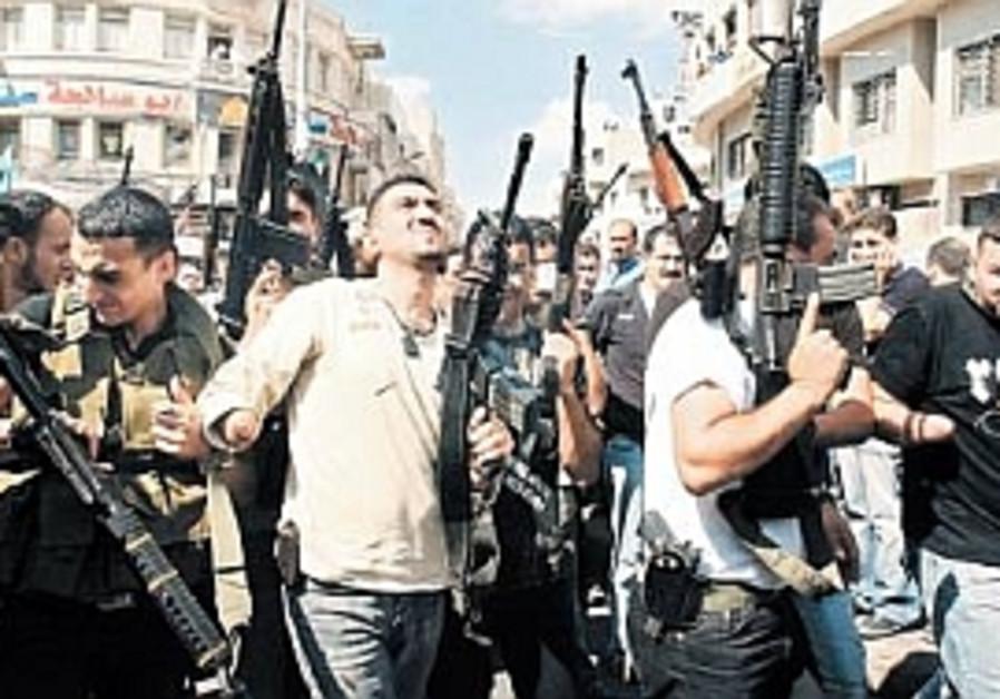 nablus rally brandishing guns 298