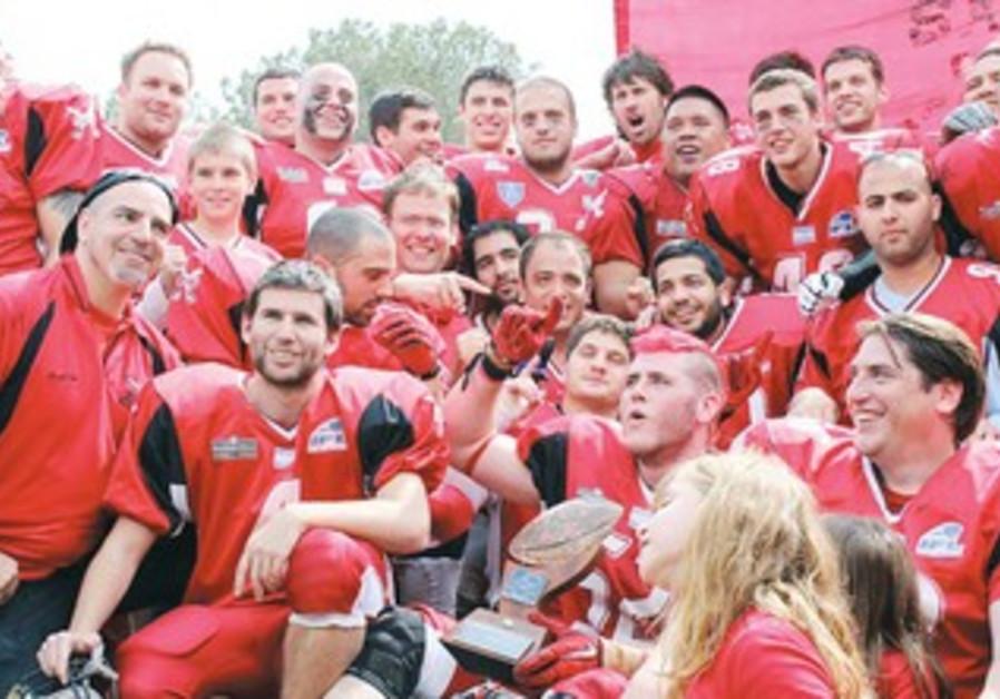TEL AVIV/JAFFA SABRES celebrate the championship