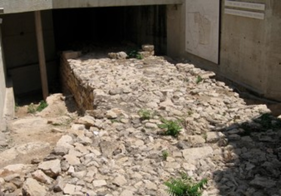Broad Wall at Hezekiah's Tunnel