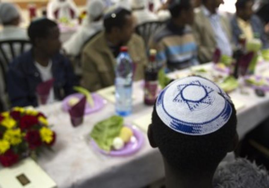 Ethiopians at Passover seder