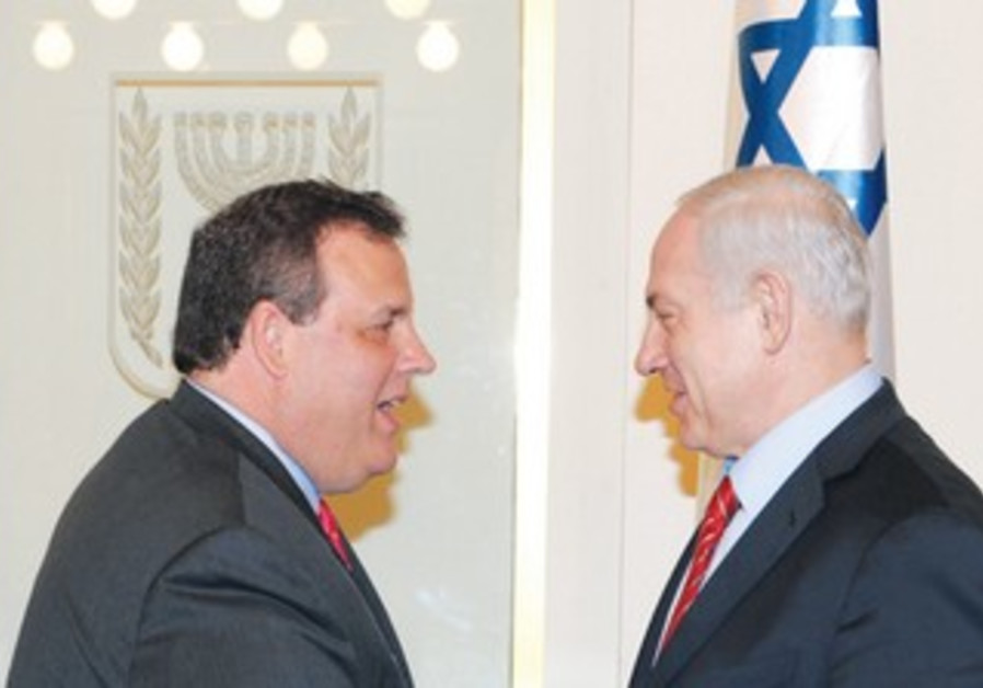 Netanyahu meets NJ Governor Christie
