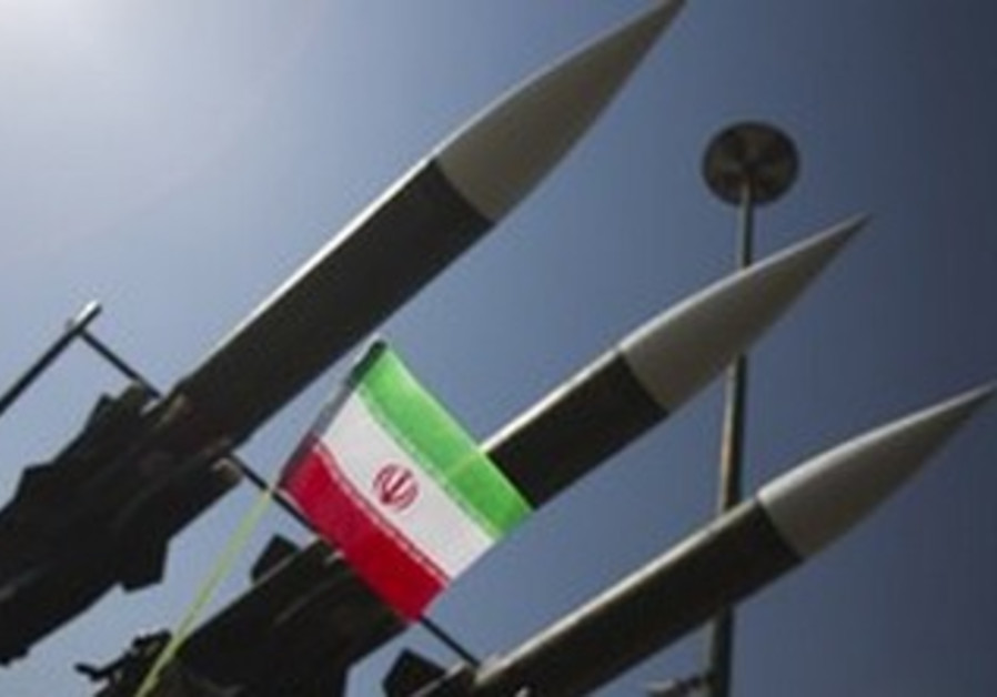 Iranian missiles displayed during war exhibition