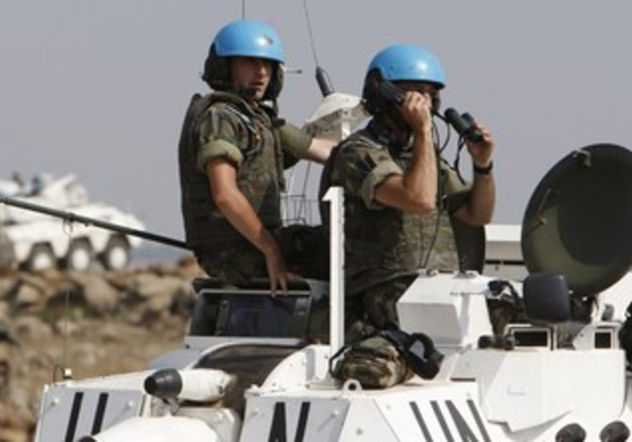 UN peacekeeping force [illustrative]