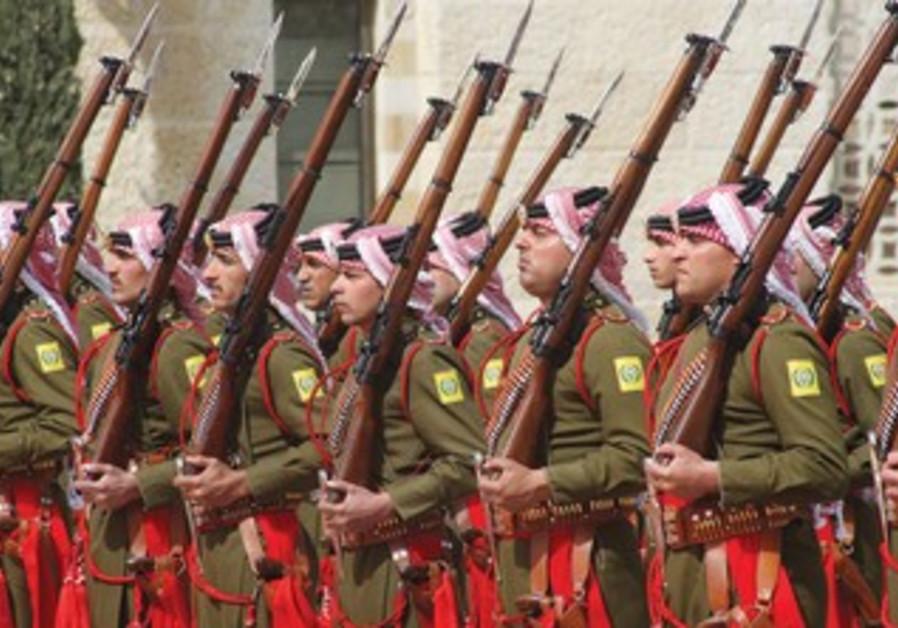 Jordanian Beduin honor guard