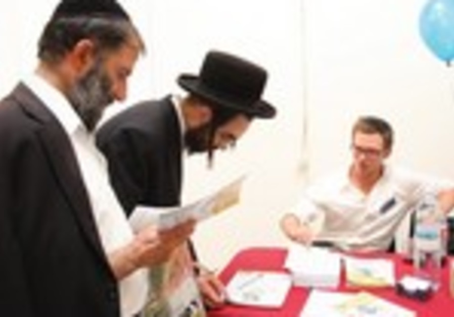 Haredi men attend a job far in J'lem
